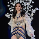 Victoria's Secret Model Ming Xi Takes a Tumble